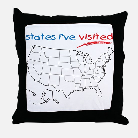 States I've Visited Throw Pillow