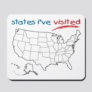 States I've Visited Mousepad