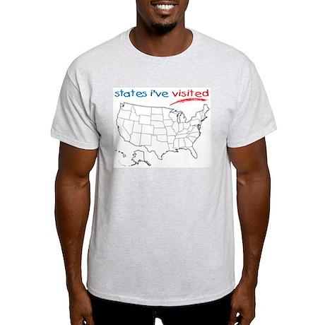 States I've Visited Light T-Shirt