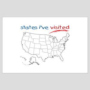 States I've Visited Large Poster
