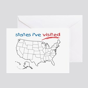 States I've Visited Greeting Card