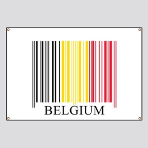 Barcode Belgium Flag Banner
