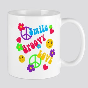 Smile Groovy Love Peace Mug