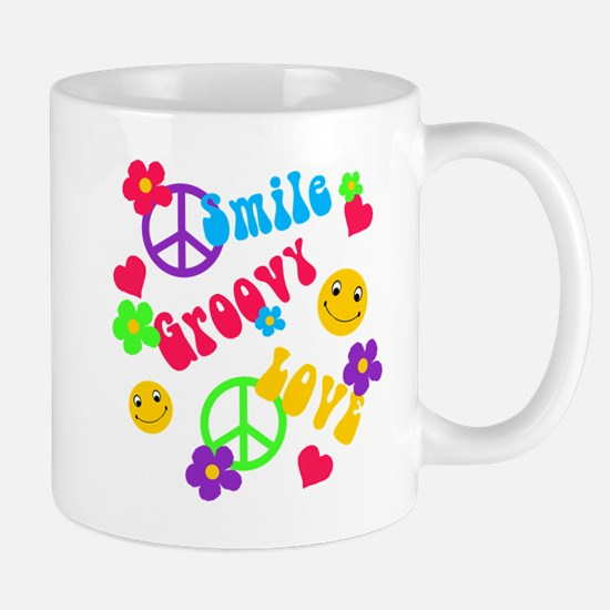 Smile Groovy Love Peace Mug