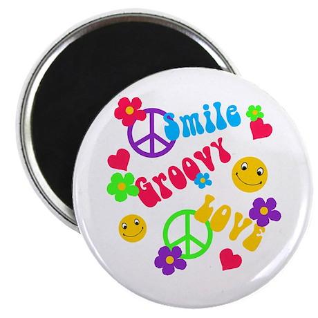 Smile Groovy Love Peace Magnet
