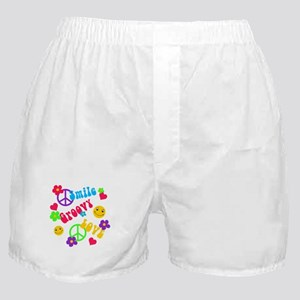 Smile Groovy Love Peace Boxer Shorts