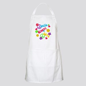 Smile Groovy Love Peace BBQ Apron