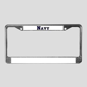 """Navy Blue"" License Plate Frame"