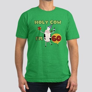 Cow 60th Birthday Men's Fitted T-Shirt (dark)