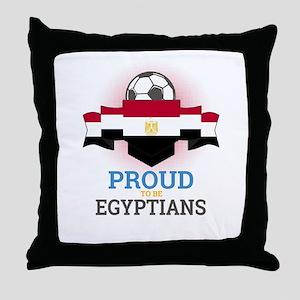 Football Egyptians Egypt Soccer Team Throw Pillow