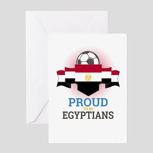 Football Egyptians Egypt Soccer Tea Greeting Cards