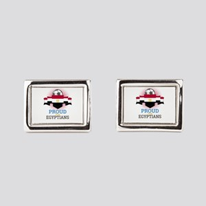 Football Egyptians Egypt Soc Rectangular Cufflinks