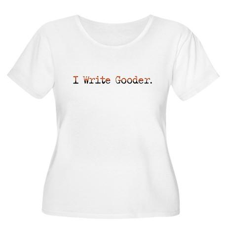 I Write Gooder Sloppy Typist Women's Plus Size Sco