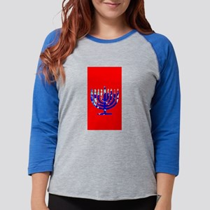 Red Vibrant Menorah Hanukkah 4 Long Sleeve T-Shirt