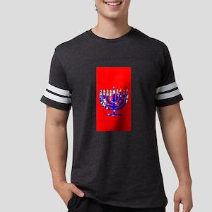 Red Vibrant Menorah Hanukkah Jason's Fave T-Shirt