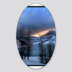 Midwinter Lake Oval Sticker