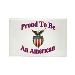 Proud American Rectangle Magnet (10 pack)