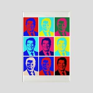 Reagan Portraits Rectangle Magnet