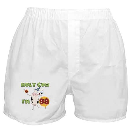 Cow 98th Birthday Boxer Shorts