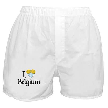 I Love Belgium (Fries) Boxer Shorts