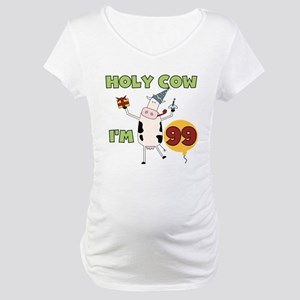Cow 99th Birthday Maternity T-Shirt
