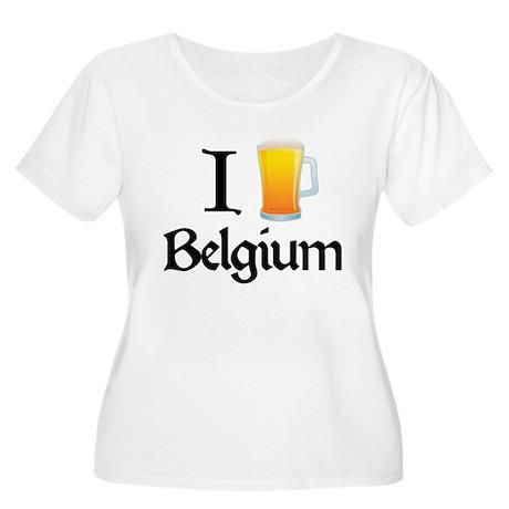 I Love Belgium (beer) Women's Plus Size Scoop Neck