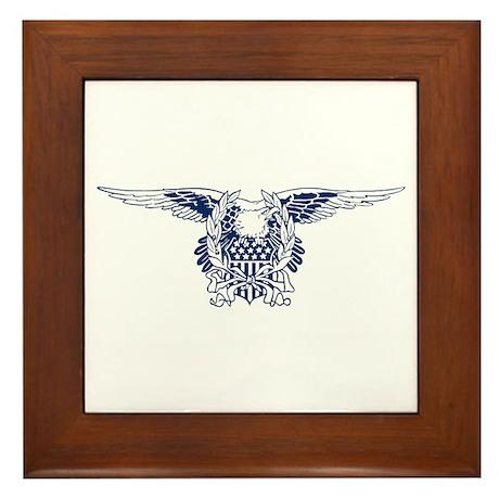 Blue American Eagle Framed Tile