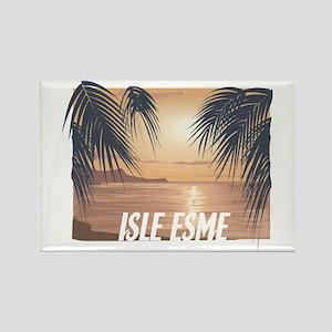Isle Esme Palm Trees Rectangle Magnet