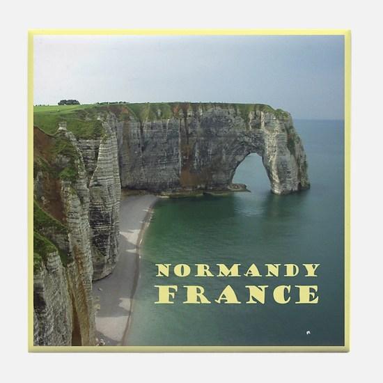 Normandy France Tile Coaster