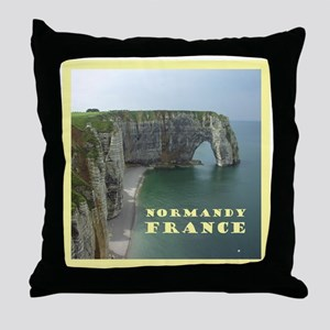 Normandy France Throw Pillow