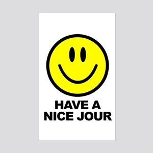 Have a Nice Jour Rectangle Sticker