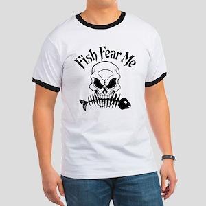 Fish Fear Me Skull Ringer T