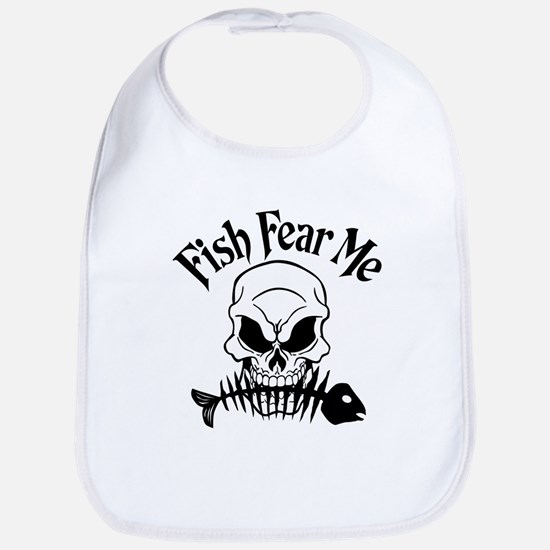 Fish Fear Me Skull Bib