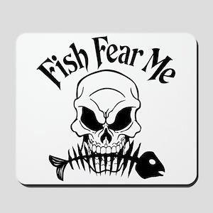 Fish Fear Me Skull Mousepad