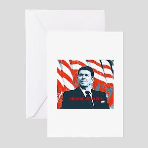Reagan Change Greeting Cards (Pk of 10)