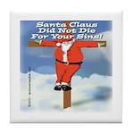 Santa Cross Tile Coaster