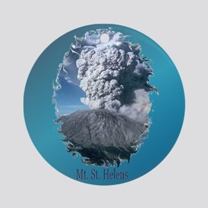 Mt. St. Helens Ornament (Round)