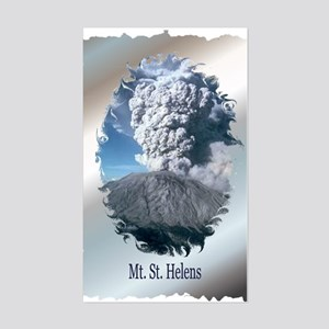Mt. St. Helens Rectangle Sticker