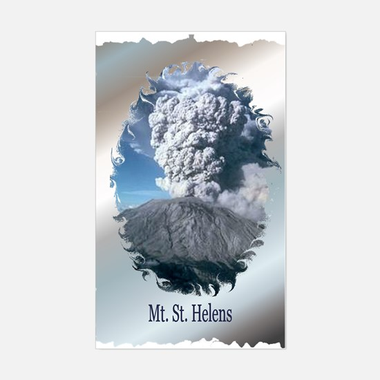 Mt. St. Helens Rectangle Decal