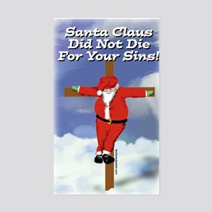 Santa Cross Rectangle Sticker