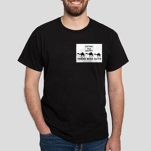 Three Wise Guys! Black T-Shirt