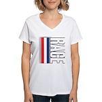 Race RWB Women's V-Neck T-Shirt