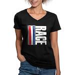Race RWB Women's V-Neck Dark T-Shirt