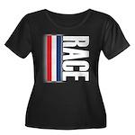 Race RWB Women's Plus Size Scoop Neck Dark T-Shirt