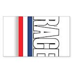 Race RWB Rectangle Sticker