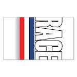 Race RWB Rectangle Sticker 50 pk)