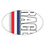 Race RWB Oval Sticker