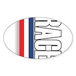 Race RWB Oval Sticker (10 pk)