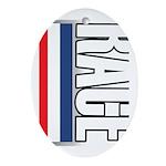 Race RWB Oval Ornament