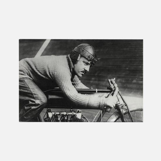 Vintage Motorcycle Racer Rectangle Magnet